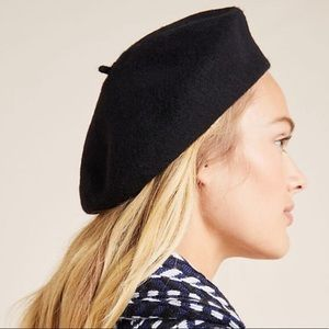 Anthropologie Accessories - Anthropologie Wool French Black Beret NEW! 🇫🇷